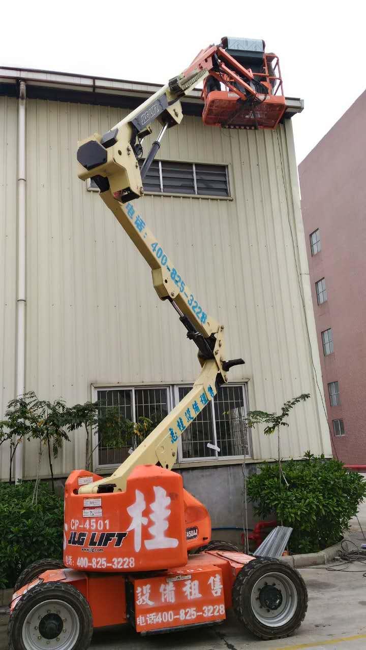 13.72米电动曲臂式高空车